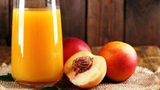 Tasty and yummy peach juice