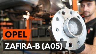 Cómo cambiar Juego de cojinete de rueda OPEL ZAFIRA B (A05) - vídeo gratis en línea