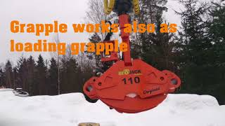 Logbullet | Biojack 110 energy wood grapple(, 2018-03-12T05:29:02.000Z)