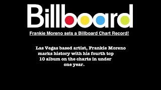 Frankie Moreno Breaks Billboards Record for #1 Albums in a year