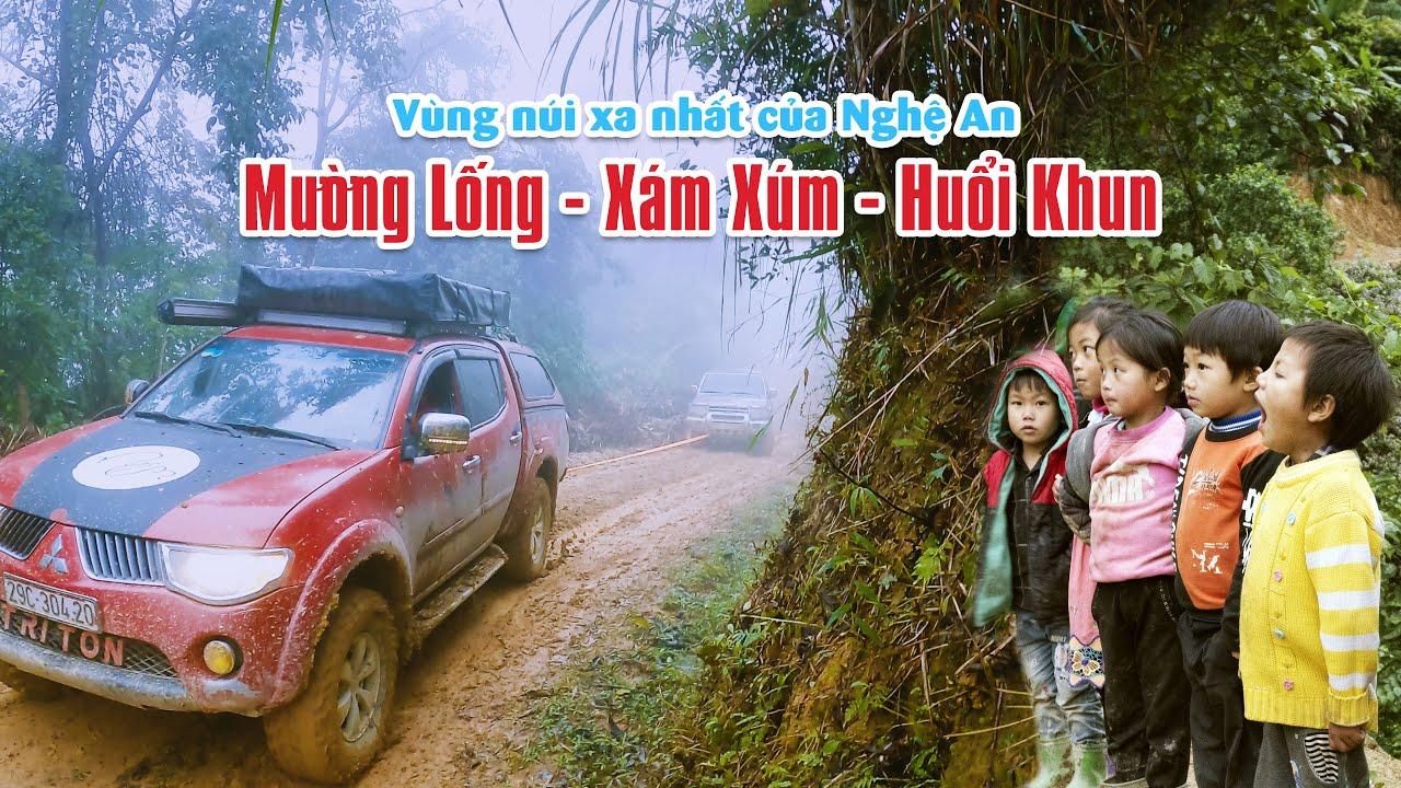 Offroad cõng quà tết tặng bà con người H'Mong Mường Lống, Xám Xúm, Huổi Khun ở Nghệ An