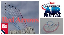 Red Arrows at Bournemouth 2018 with comms