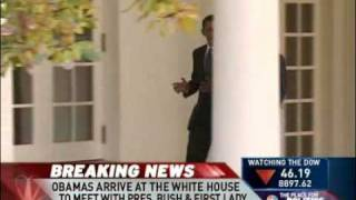 Obama Steps into the Oval Office for the First Time 11/10/08