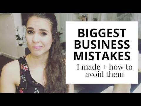 3 Biggest Business Mistakes I Made And How You Can Avoid Them // Free Cheat Sheet