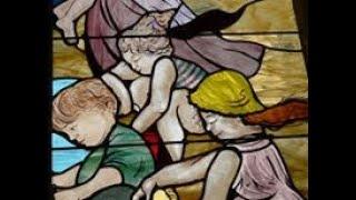 La Lumière du Fond. Création de vitraux de Judith Debruyn Pilot.Eglise Saint Amé de Liévin. France