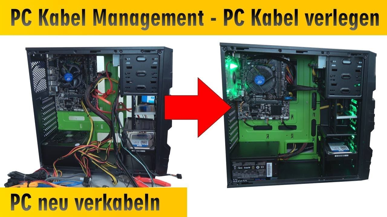 pc kabel management computer neu verkabeln und kabel sauber verlegen verstecken 4k youtube. Black Bedroom Furniture Sets. Home Design Ideas