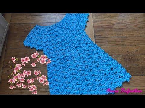 Платье вязанное крючком для девочки 6 лет схема