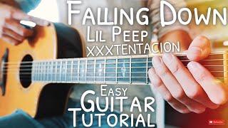 Falling Down Lil Peep XXXTENTACION Guitar Tutorial // Falling Down Guitar // Guitar Lesson #561