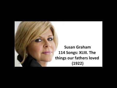 Susan Graham: The songs of Charles Ives