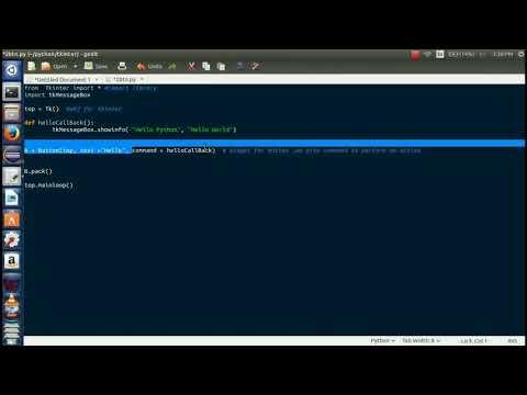 Python GUI with Tkinter Button widget | #3
