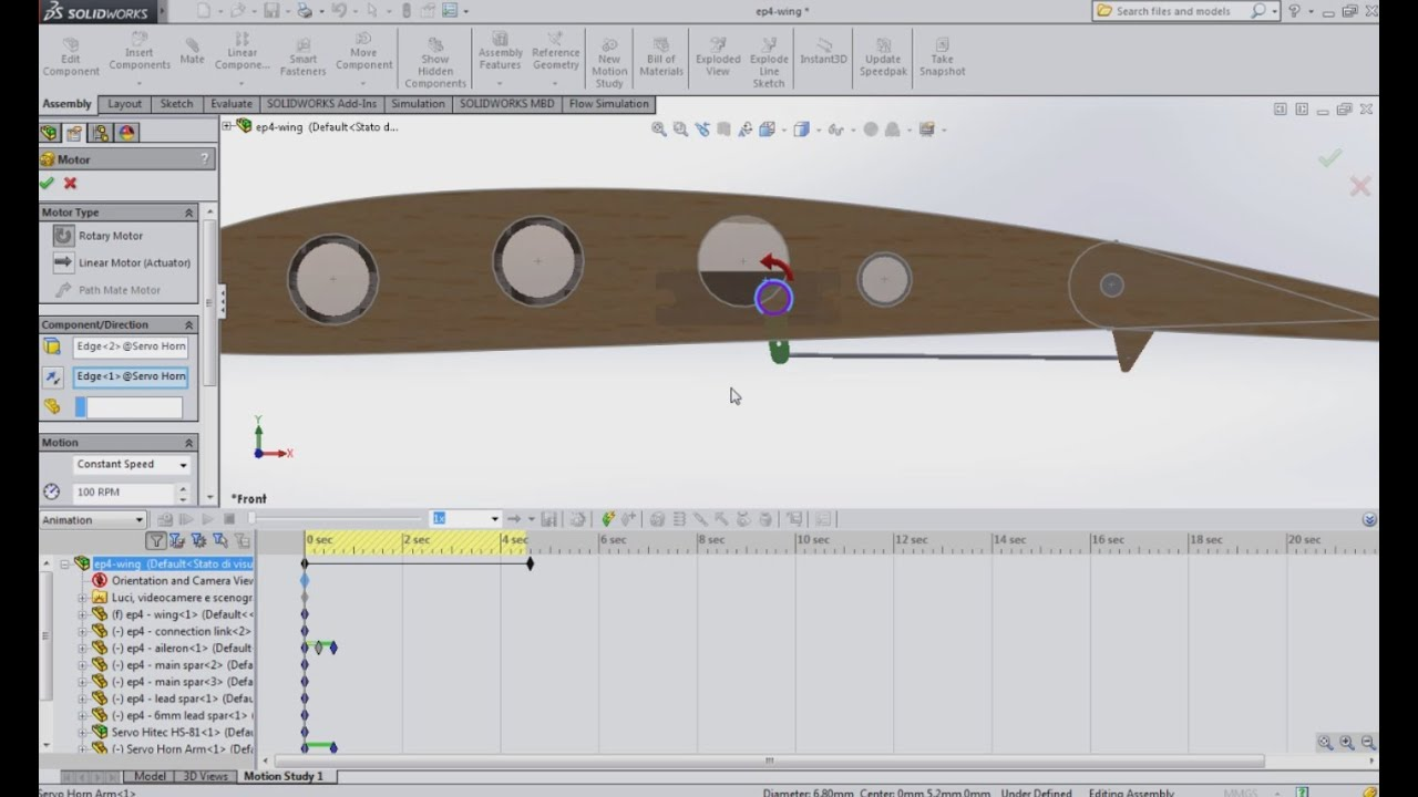 Define motion study - Ep 5 How To Use Solidworks Motion Study To Calculate Torque Of Servo Motor