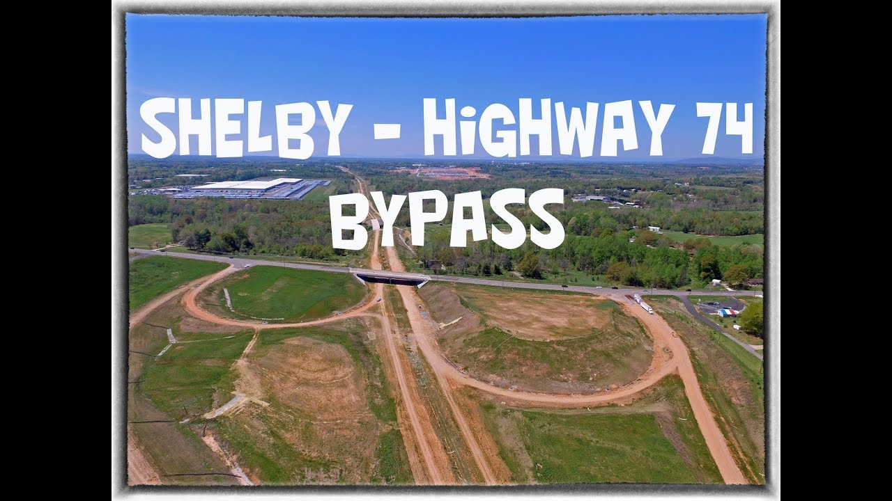 Drone Footage Of The Shelby Highway 74 Bypass At Highway 226