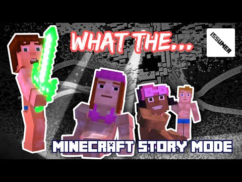 The Most Hilarious and Saddest Moment in Minecraft Story Mode (Swimsuit Series)