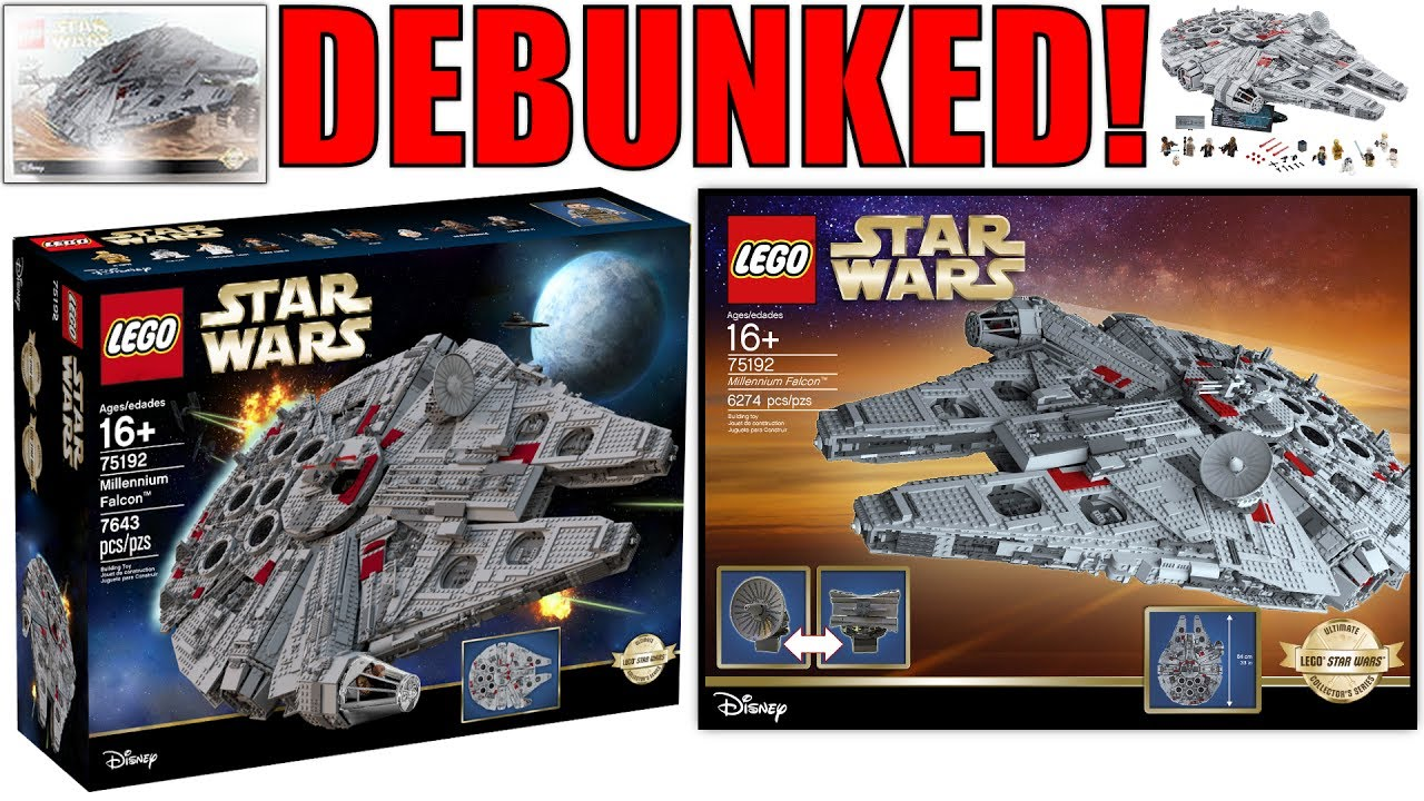 lego ucs millennium falcon re make rumors debunked sorta. Black Bedroom Furniture Sets. Home Design Ideas
