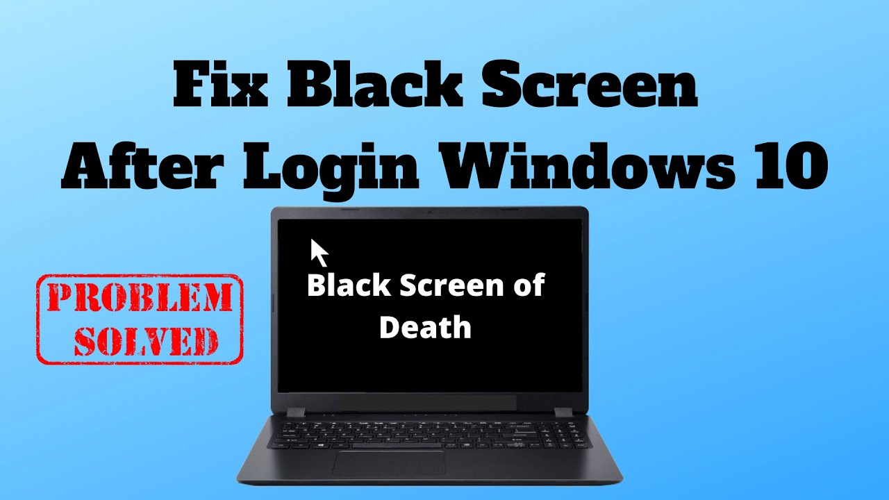 Black Screen After Log In With Password