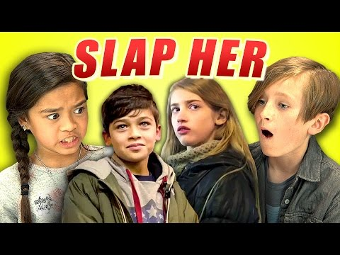 KIDS REACT TO SLAP HER