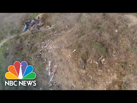 Drone Video Shows Helicopter Crash Site Where Kobe Bryant, Eight Others Died | NBC News