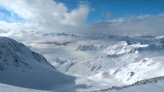 Лез Арк Парадиски Франция Les Arcs Paradiski Bellecote Aiguille Rouge(Как мы катались на горных лыжах на французском горнолыжном курорте Лез Арк. Поездка на ледники Беллекот..., 2014-12-21T13:07:31.000Z)