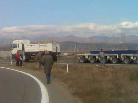 600 t Anatolia logistic turbine transport Macedonia Klucka Radovis Strumica.