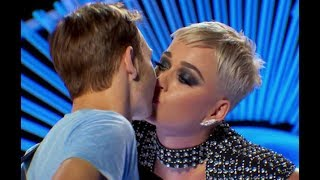 American Idol turns sour as Katy Perry kisses contestant without consent Video
