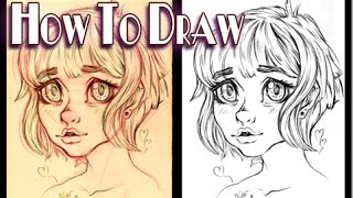 How to draw cute anime/manga - Girl with big nose
