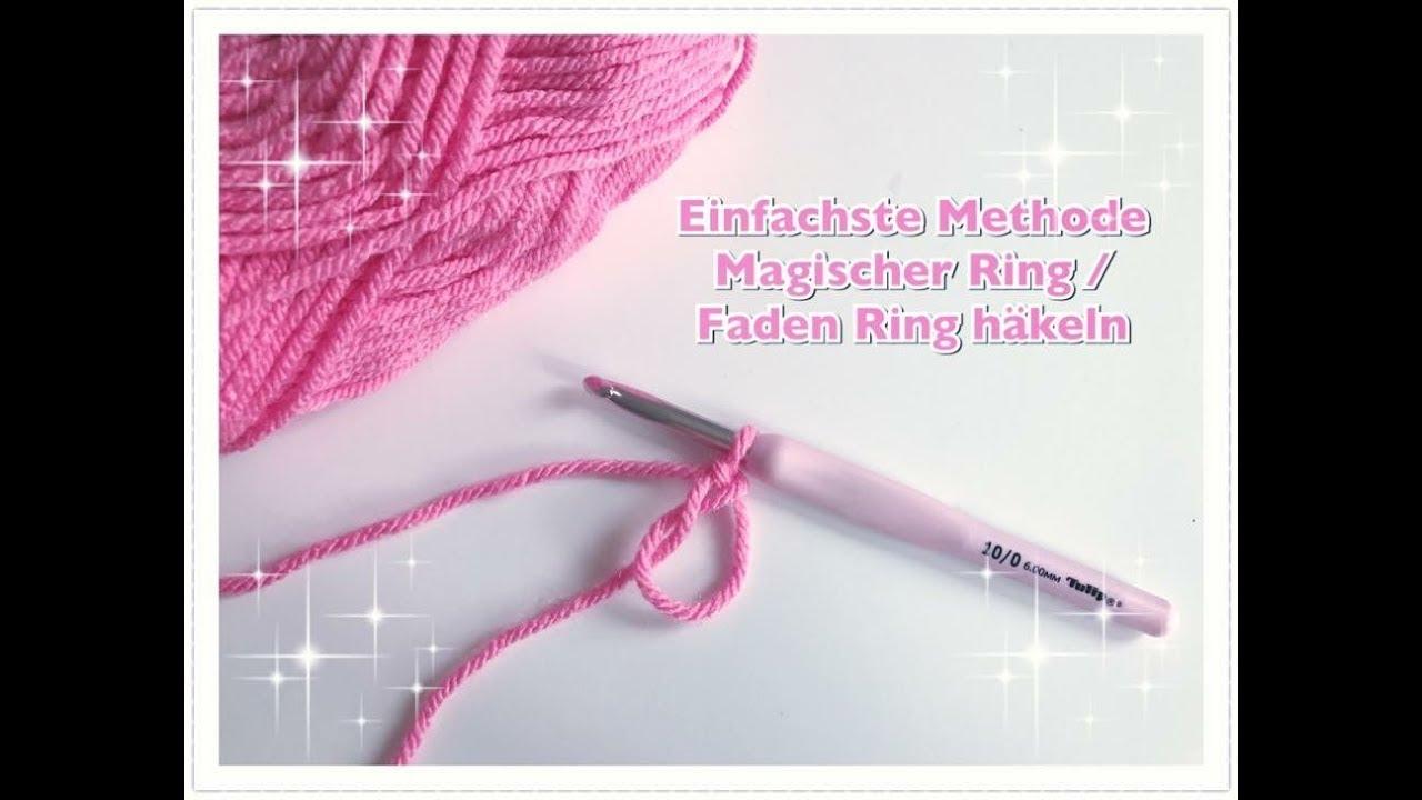 Einfachsten Fadenring Häkeln Magischen Ring Häkeln Magic Ring