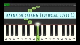 karna su sayang - tutorial piano level 1  pemula