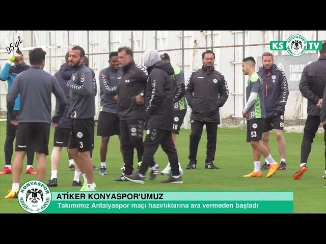 Takımımızda Antalyaspor maçı hazırlıkları ara vermeden başladı