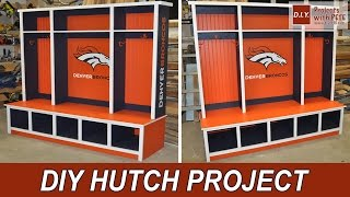 Denver Broncos Hutch With Glidden Team Colors
