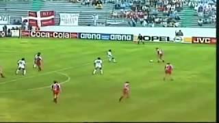 Лучшие голы футбола Дания Уругвай Лаудруп забивает 3 й гол на чемпионате мира 1986 года в Мексике