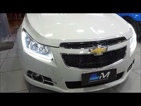 Chevrolet Cruze Com Barra De Led Dual Chip E Mascara Negra