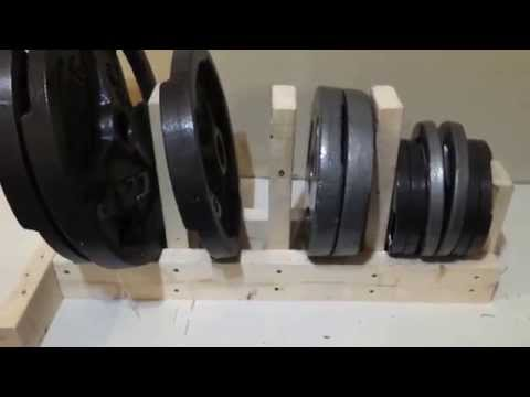 DIY Weight Rack EASY and CHEAP