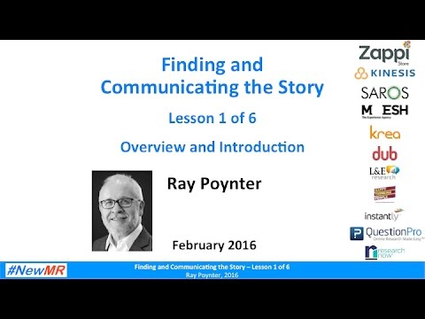 Ray Poynter   Find and Communicate the Story   1 of 6