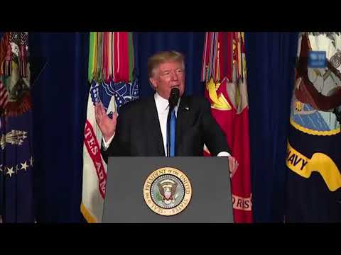 US President Donald Trump's full speech on his strategy for Afghanistan