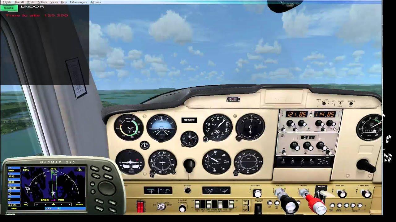 FSX ENBR - ENTC VOR Part 1 ENBR - VOO in Cessna 152II