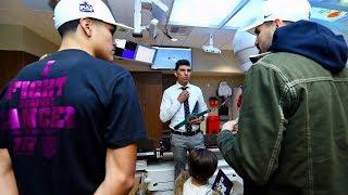 Jose Ramirez And Gabe Flores Jr. Visit The Community Cancer Institute In Clovis, CA.