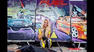 Fuel Fest 2019: Jessica Haas Speedpainting Performance with Fast & Furious Movie Celebs