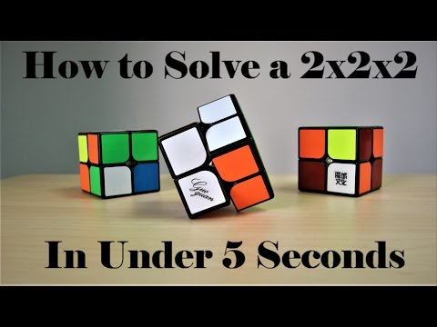 How To Solve a 2x2 Rubik's Cube Using Ortega!! Crazy Fast Method!!