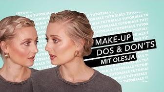 MAKE-UP DO'S & DON'TS  mit Olesja- Diese Schminkfehler solltest du vermeiden I Douglas Cosmetics