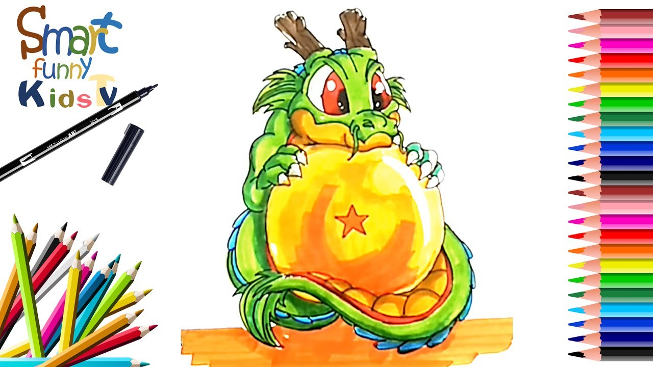 how to draw cute dragon dragon ball z super painting