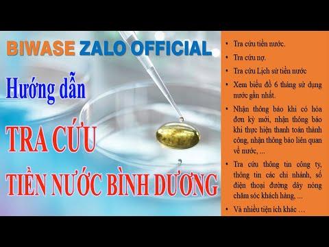 Hướng dẫn Tra cứu Tiền nước Bình Dương (BIWASE) trên Zalo   TDMIT
