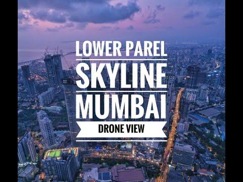 Mumbai Lower Parel Skyline Drone View - YouTube