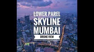 Mumbai Lower Parel Skyline Drone View