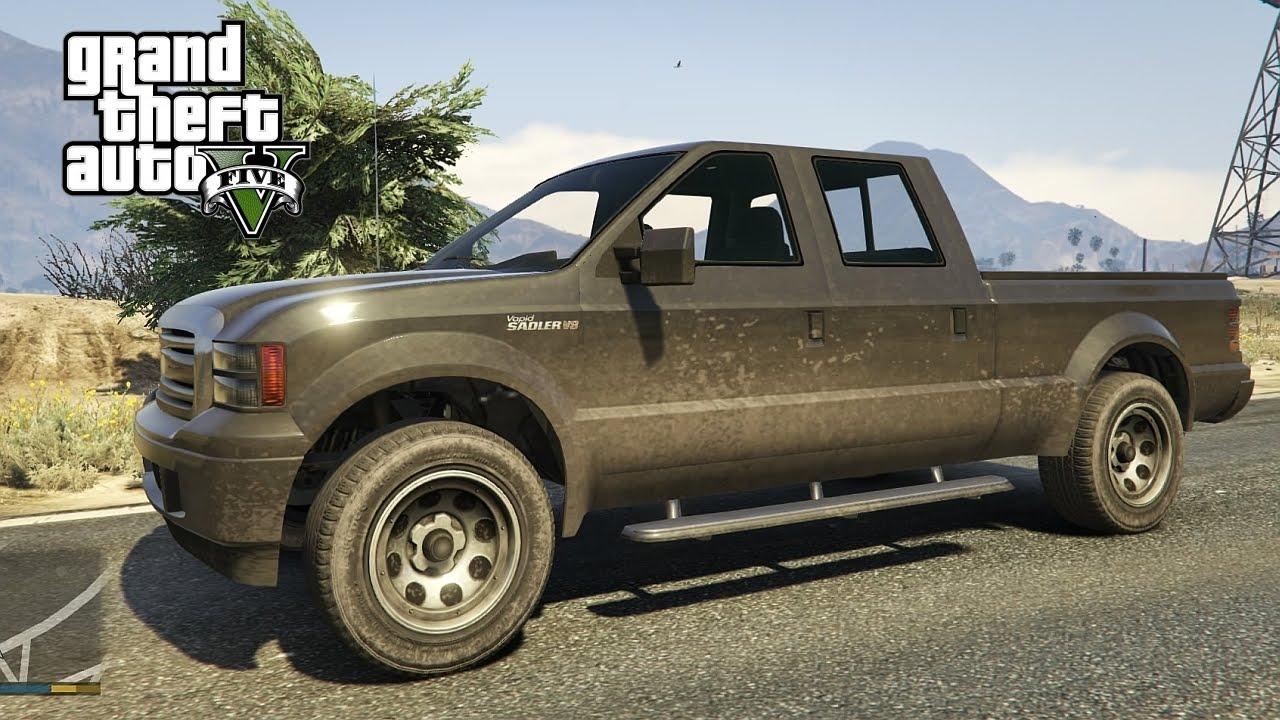 gta v next gen ps4 vapid sadler pickup truck test drive youtube. Black Bedroom Furniture Sets. Home Design Ideas