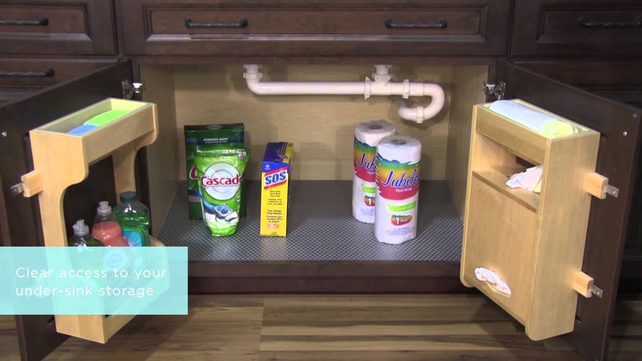 Under Kitchen Sink Organizing Kitchen Sink Storage Make It By Monday Diy Storage Ideas For
