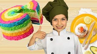 Детская Кухня с Поваром Эмилюшей готовим Торт без выпекания