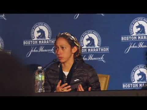 Desiree Linden speaks on winning the 2018 Boston Marathon