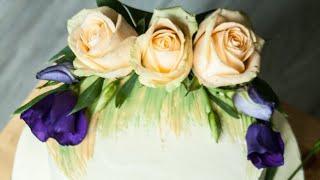 видео Торты, украшенные живыми цветами
