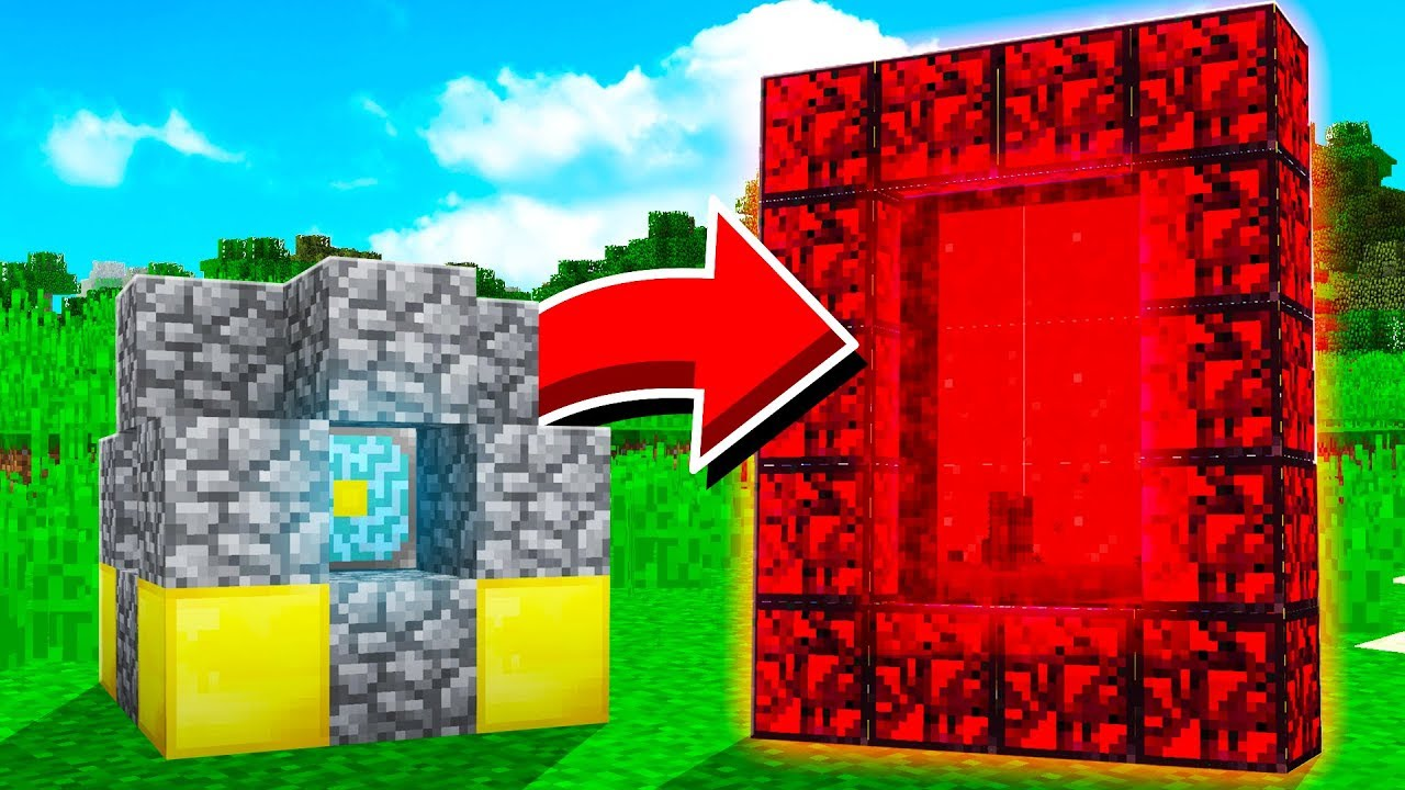 BUILDING A PORTAL TO THE NETHER REACTOR!
