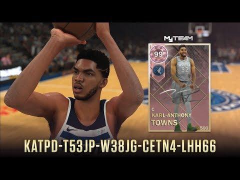 PINK DIAMOND KARL ANTHONY TOWNS LOCKER CODE CAMPING NBA 2K18 MYTEAM